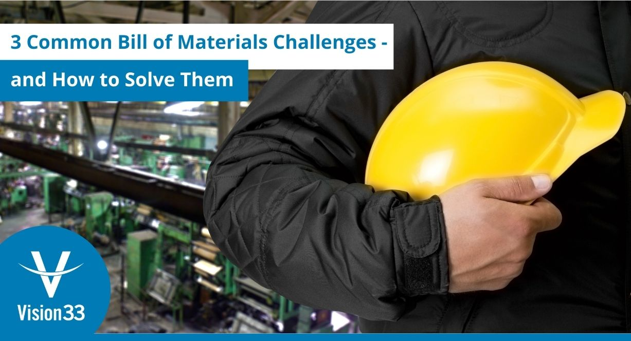 common bill of materials challenges