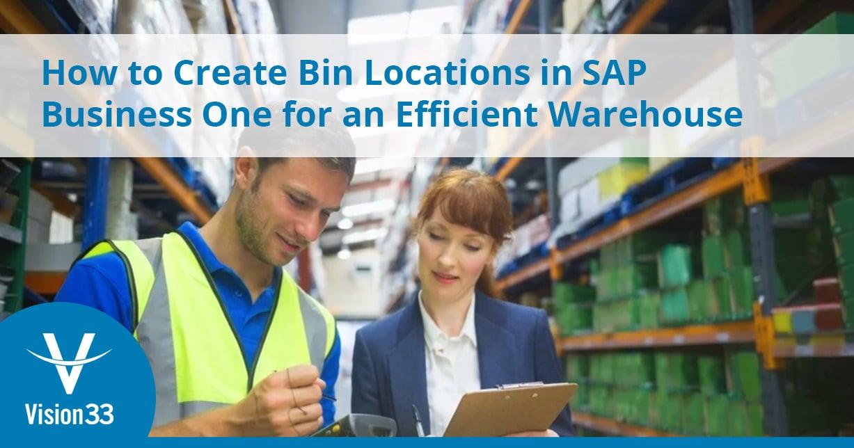 sap business one bin locations