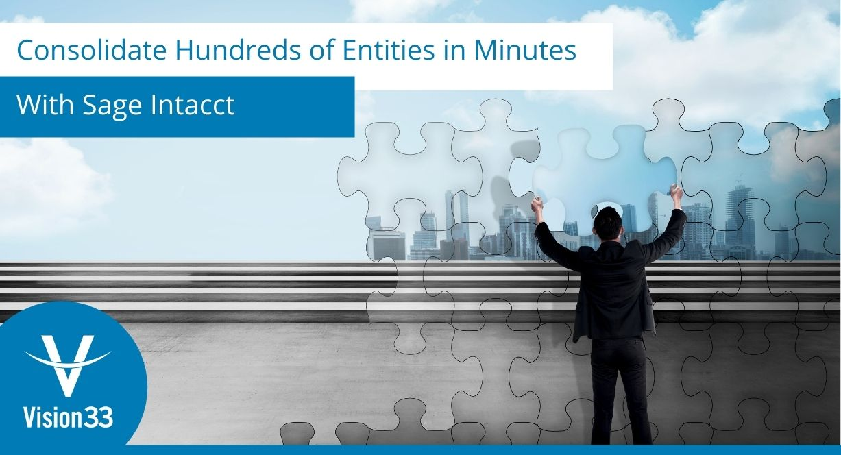 consolidation process with Sage Intacct