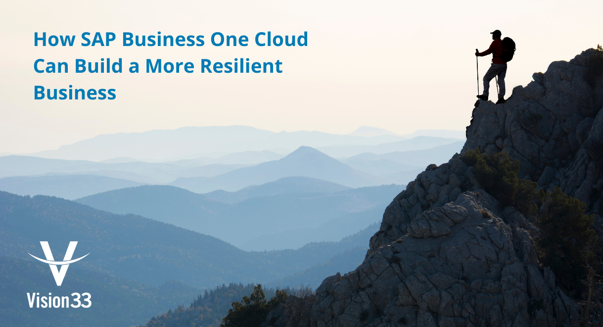 How SAP Business One Cloud Can Build a More Resilient Business