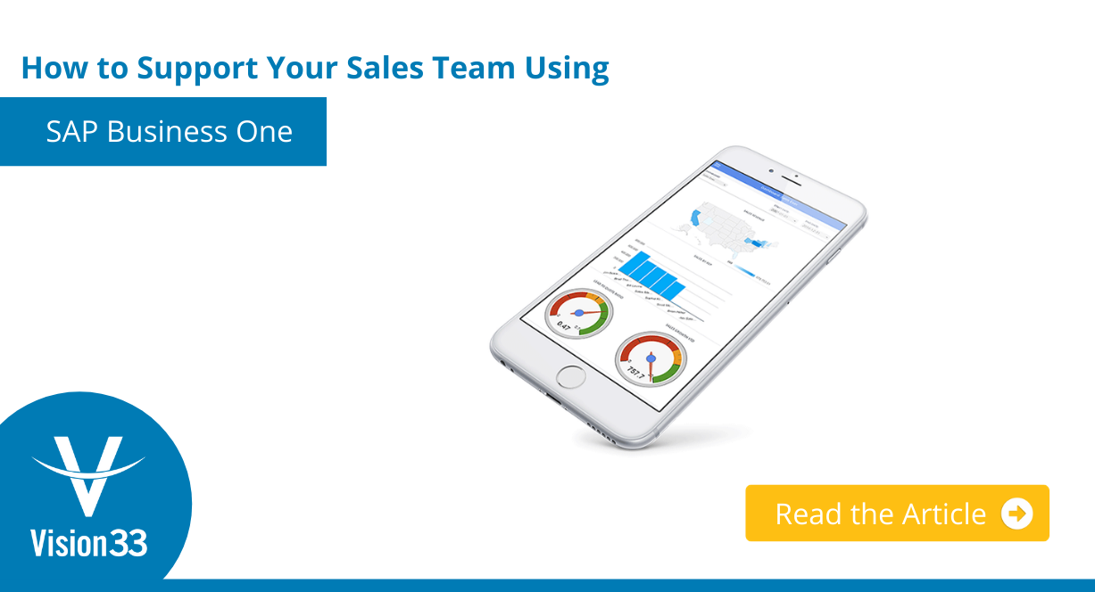 How to Support Your Sales Team Using SAP Business One Button