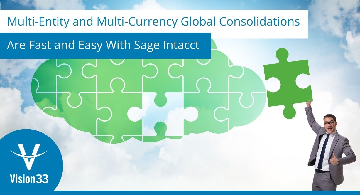 Multi-currency and multi-entity consolidation with Sage Intacct
