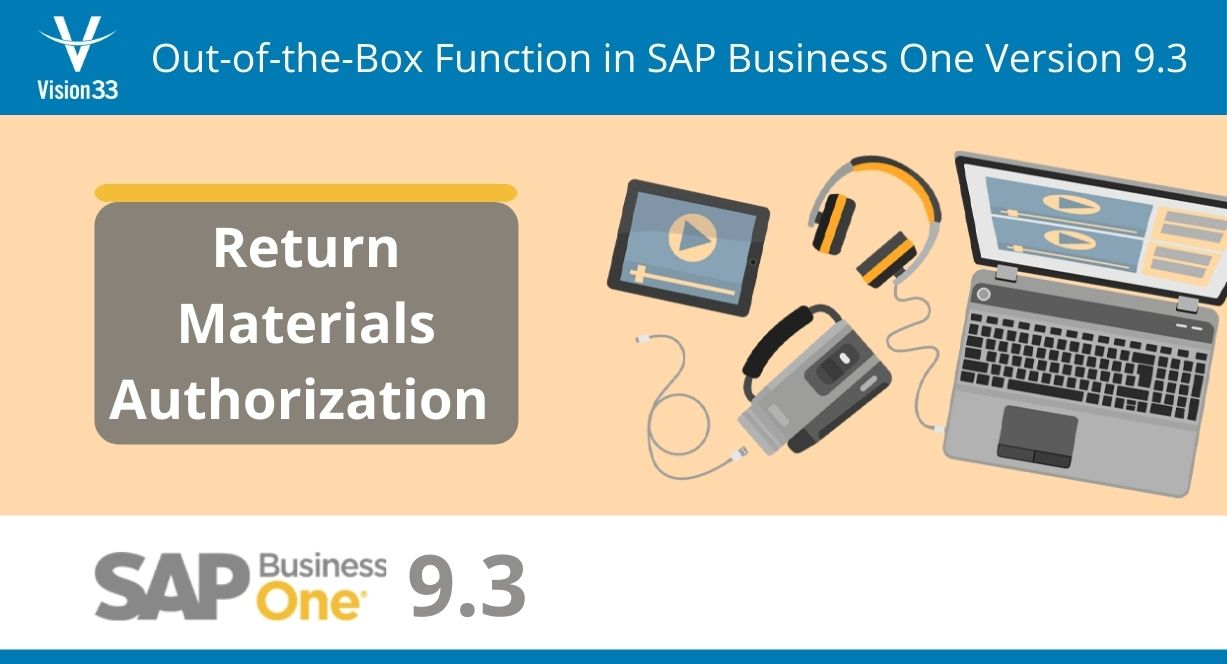 RMA in SAP Business One version 9.3