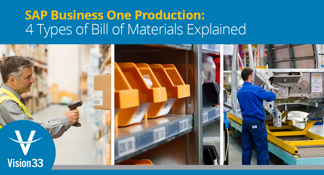 SAP Business One Production: 4 Types of Bill of Materials