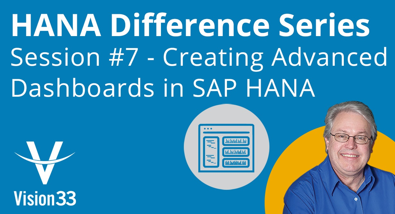 create sap hana dashboards