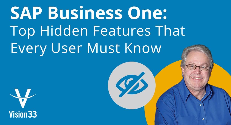 sap business one hidden features