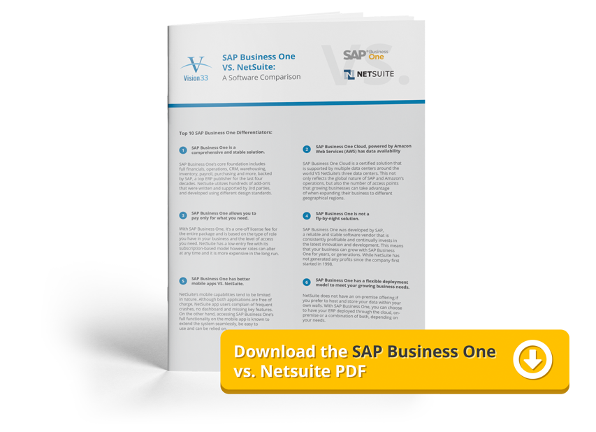 Download the SAP Business One vs. Netsuite PDF