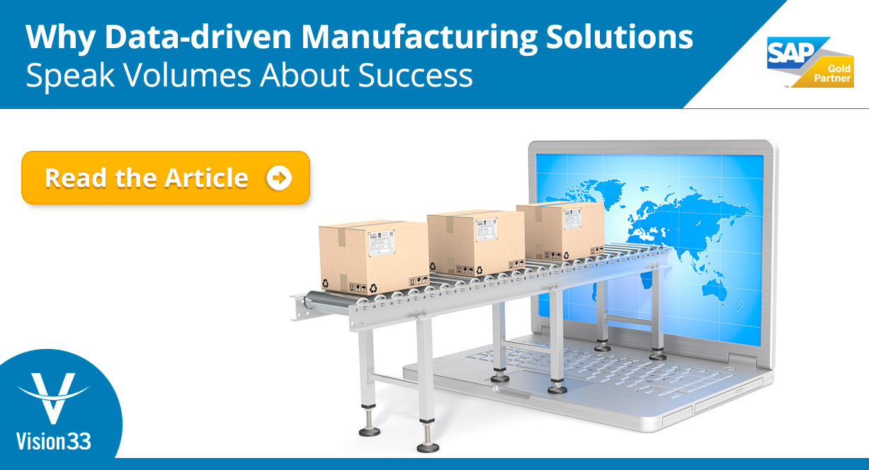 Why Data-driven Manufacturing Solutions Speak Volumes About Success.