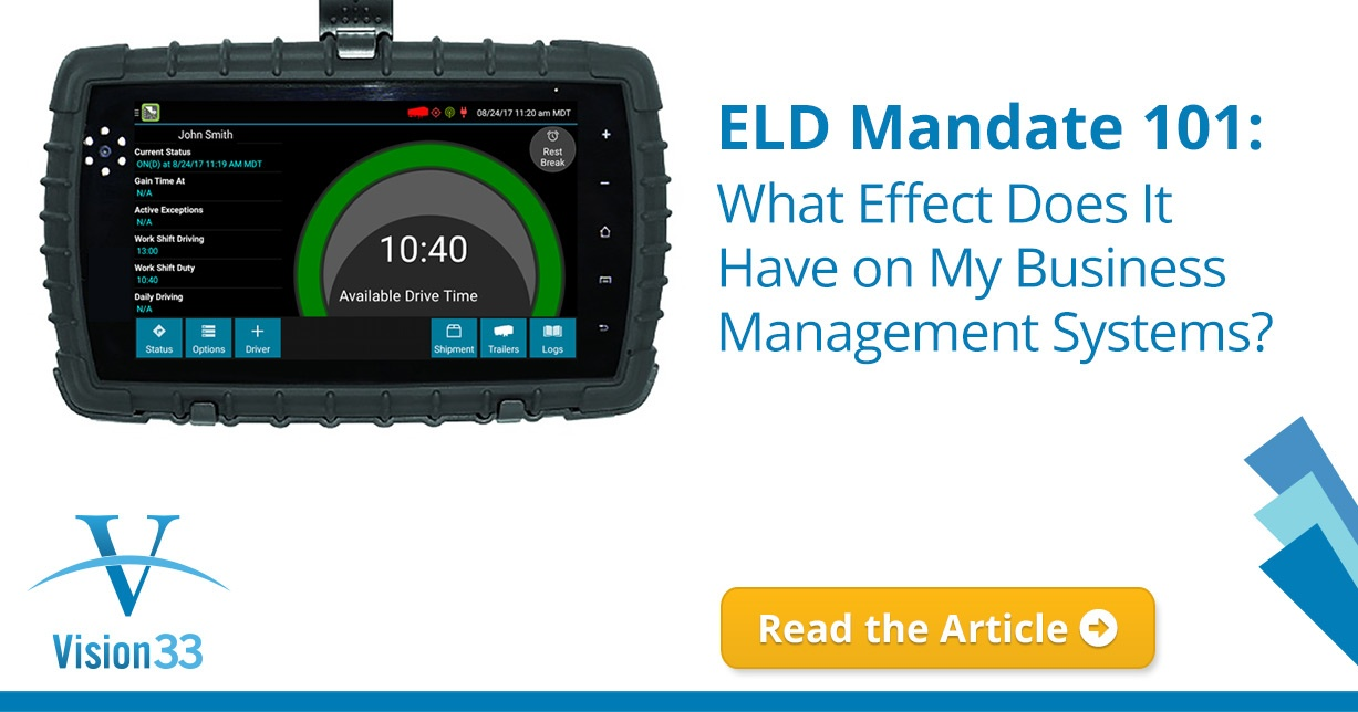 ELD Mandate 101: What Effect Does It Have on My Business Management Systems?