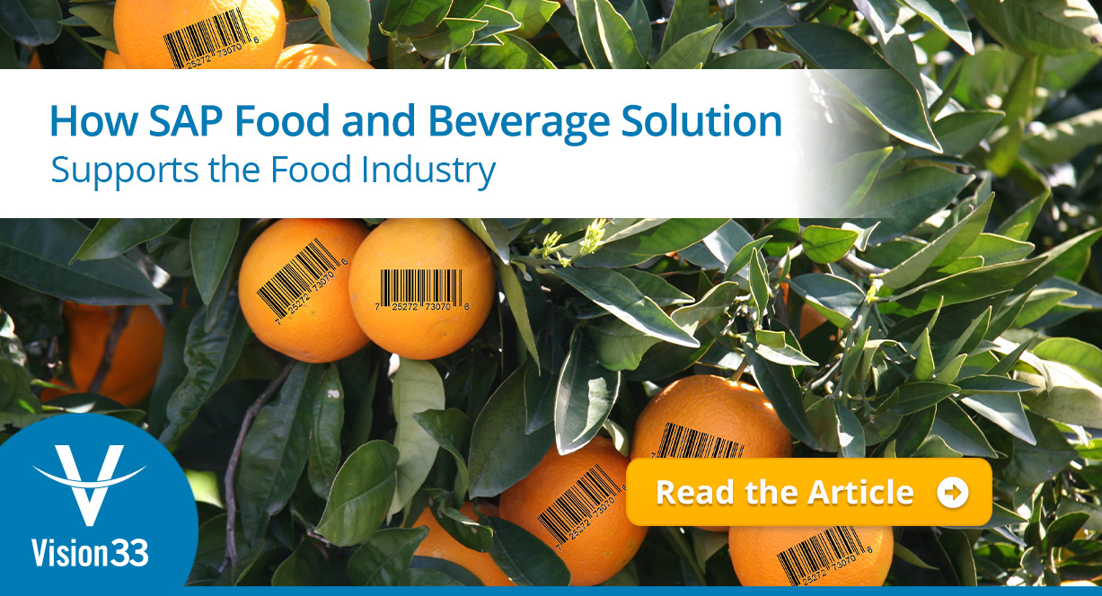 How SAP Food and Beverage Solution Supports the Food Industry