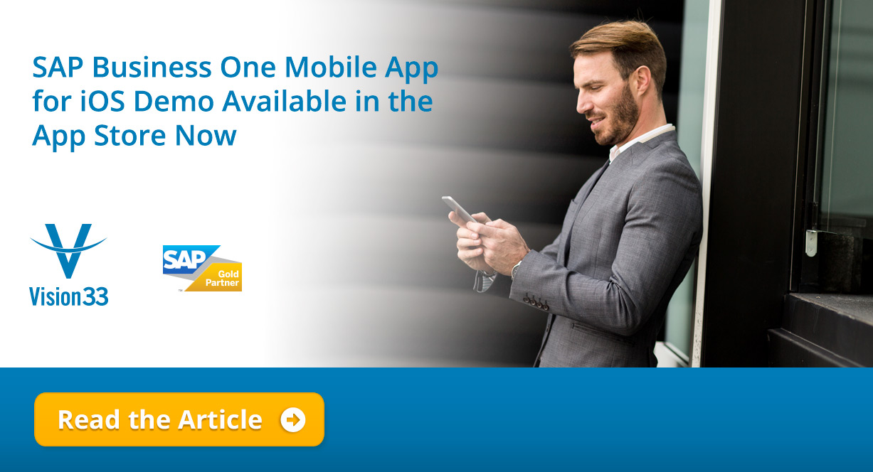 SAP Business One Mobile App for iOS Demo is Available in the App Store.