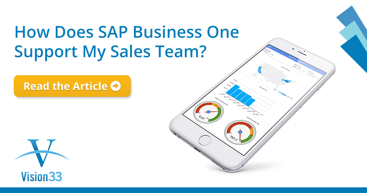 How Does SAP Business One Support My Sales Team?