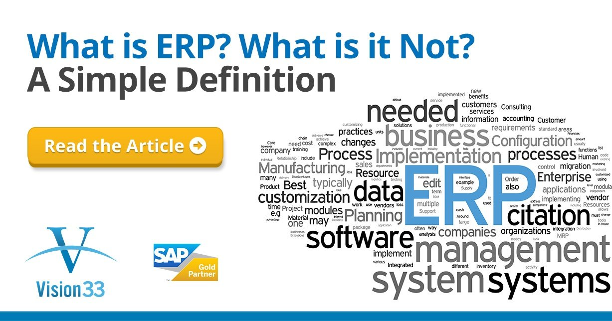 What is ERP Software? A Small to Midsized Enterprise Definition