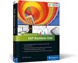 Available Now: SAP Business One User Guide Authored By Vision33's Carl B Lewis