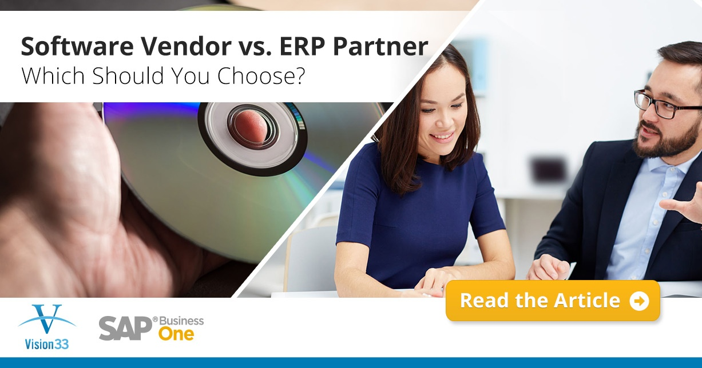 Software Vendor vs. ERP Partner: Which Should You Choose?
