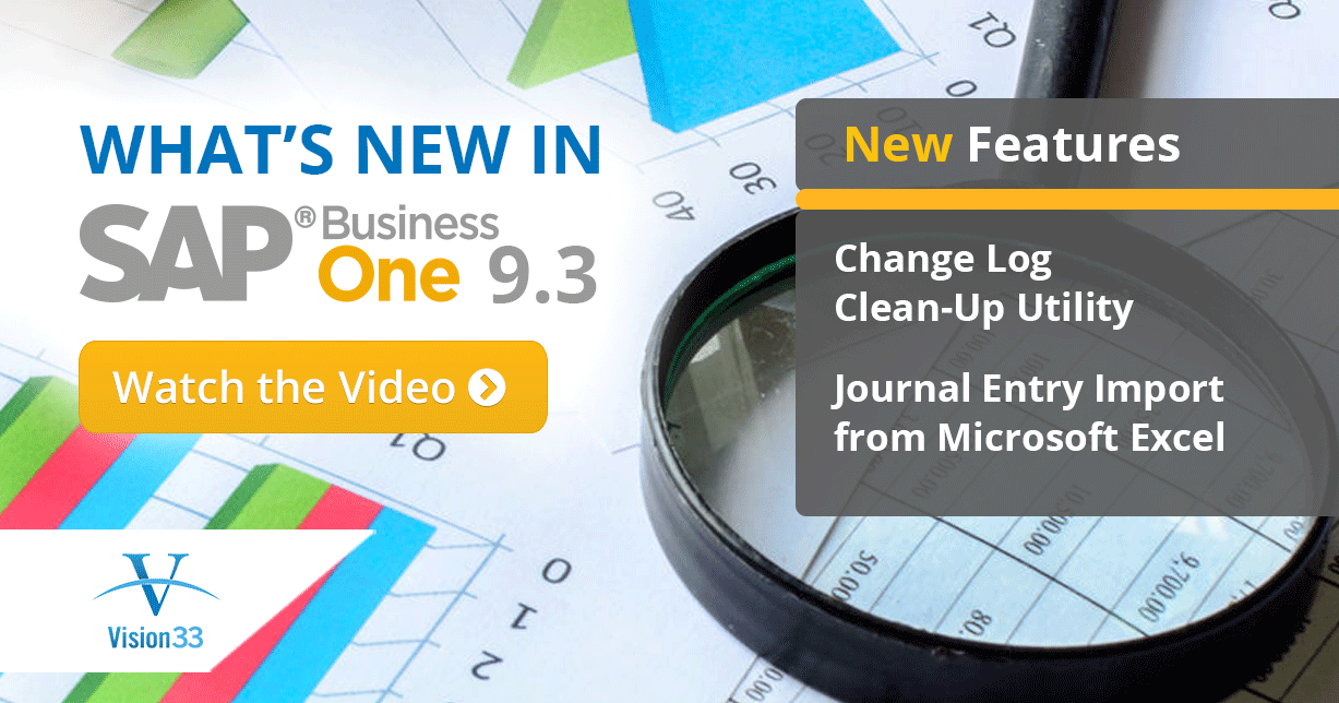 Journal Entry Import from Microsoft Excel & Change Log Clean-Up Utility: The Best of What's New In SAP Business One 9.3 Part 3