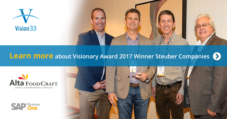 Meet Steuber Companies: Vision33 Customer and Visionary Award 2017 Winner